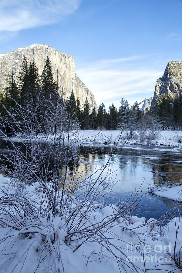Winter Landscape In Yosemite California Photograph  - by Julia Hiebaum via fineartamerica.com