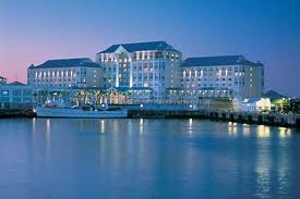 The five star Table Bay Hotel in Cape Town is located right on the water's edge at the harbour of the Victoria & Alfred Waterfront in Cape Town, South Africa.  We stayed here.. :)