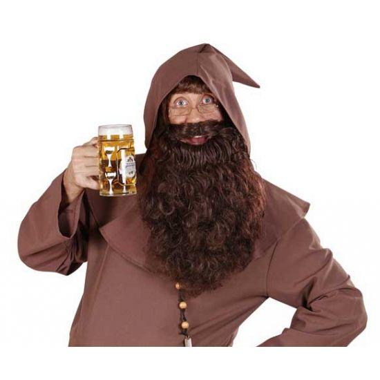 Bruine baard met golvend haar  Bruine lange baard met golvend haar. Lange baard voor volwassenen met bruin golvend haar.  EUR 9.95  Meer informatie