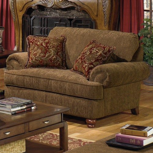 Jackson Furniture 4347 Belmont Chair And A Half With Rolled Arms 2 Decorative Pillows
