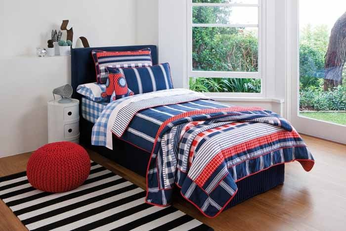 Best Navy And Light Blue Boy Bedding Boys Double Bed Size 400 x 300