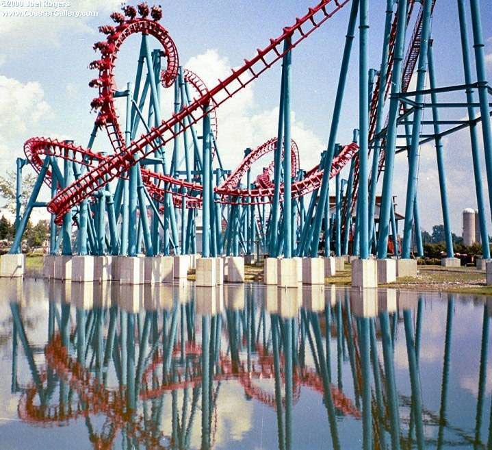 Mind Eraser - Darien Lake, NY  My very first roller coaster experience with @Aaron Pentz