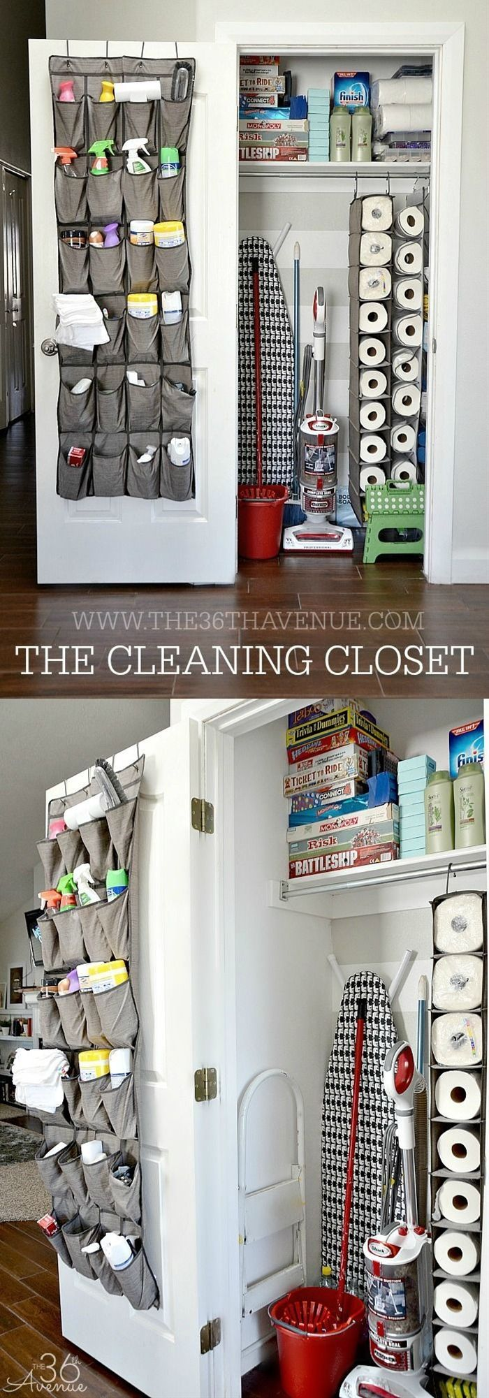 The first thing I did was purchase a few closet organization gadgets. These are normally for shoes but I used them to store the cleaning products we use most. If you are thinking about doing something like this make sure to put your money in strong ones s
