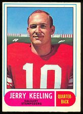 1968 OPC O PEE CHEE CFL FOOTBALL 81 JERRY KEELING EX-NM CALGARY STAMPEDERS TULSA