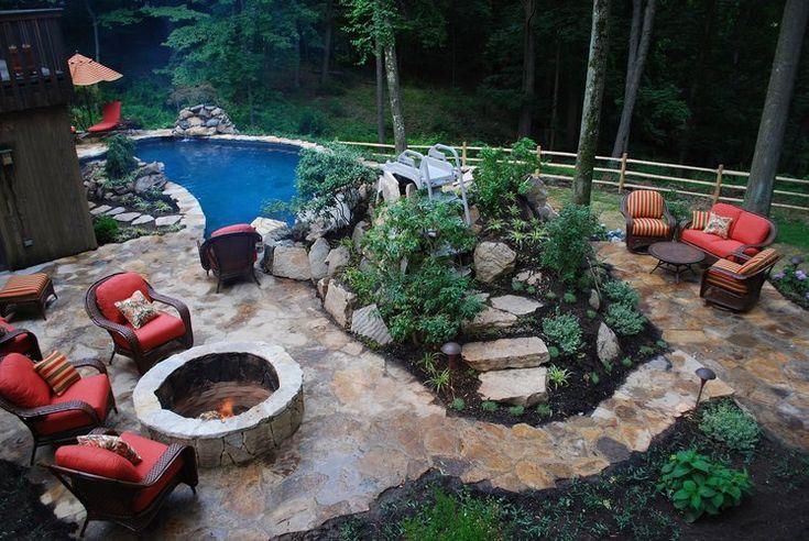 27 best Out Doors pools images on Pinterest   Backyard ... on Unlevel Backyard Ideas id=19981
