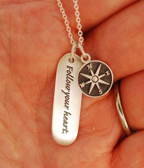 Star Compass Follow Your Heart by TeriLeeJewelry on Etsy