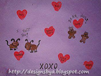 February Thumbprint Art - Fun Handprint Art
