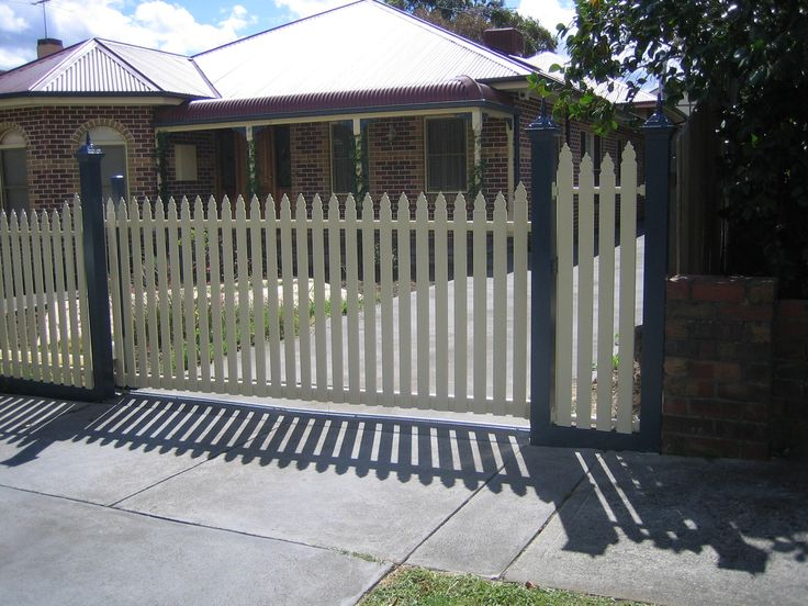 Custom made by Fence Factory in our Sunshone factory we can make any height or style. Call today for a free quote Regarding #SteelPicketFencing.
