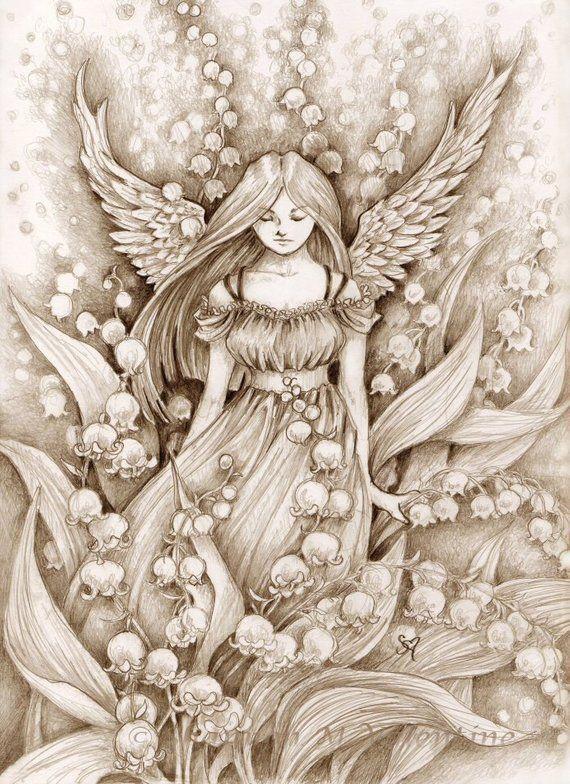 Disegni A Matita Angeli Idee Per Disegnare Arte Fantasy E