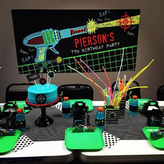Laser Tag décor Laser Tag Birthday Party par arpartyprintables