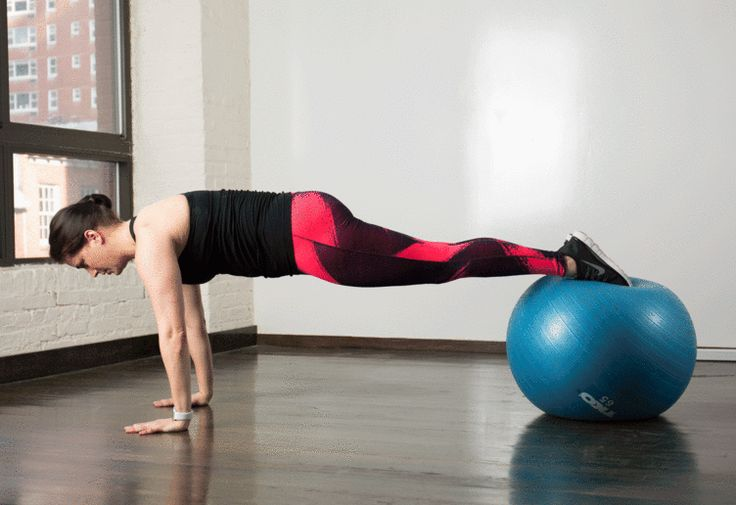 6. Stability Ball Pike #stabilityball #abs #exercises http://greatist.com/move/abs-workout-best-stability-ball-moves-for-your-core