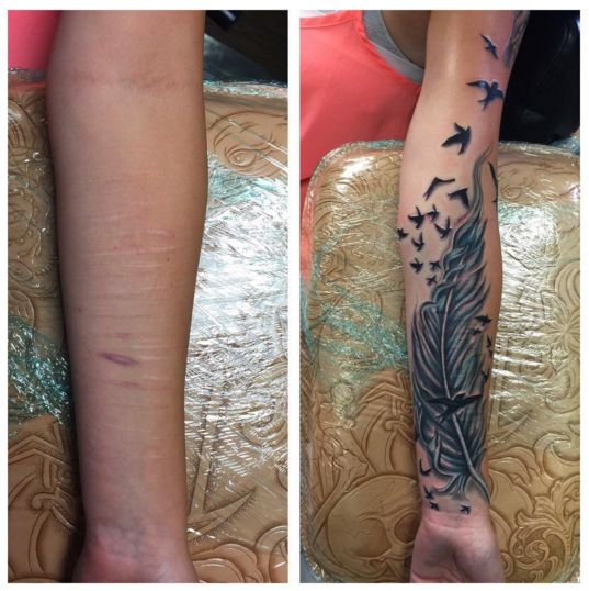 Best 25 cutting scars tattoo ideas on pinterest black for Can you get a tattoo over a scar