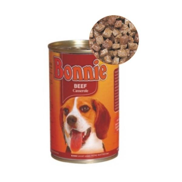 Bonnie Biftekli & Parça Etli Konserve Köpek Maması