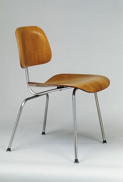 Eames DCM with boot glides (circa 1954) in the Metropolitan Museum of Art's permanent collection