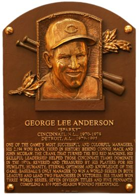 Sparky Anderson, MGR, Cincinnati Reds & Detroit Tigers, Baseball Hall of Fame