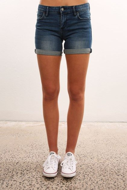 Mid Thigh Short Blue Halo