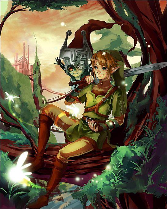 The Legend of Zelda: Twilight Princess, Link and Midna / zelda3 by muse-