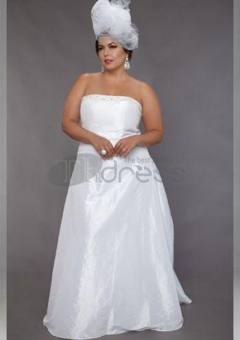 Abiti da Sposa Taglie Forti-Treno taffettà abiti da sposa taglie forti