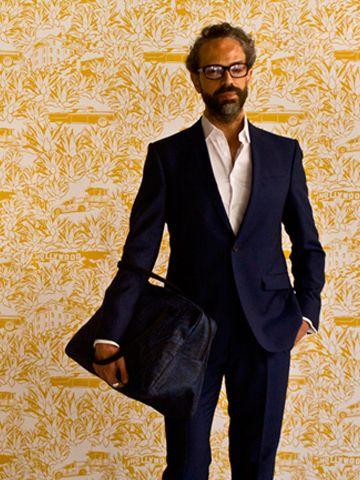 Wallpaper by Dominique Picquier Papier peint Los Angeles. Sac voyage Paris jean