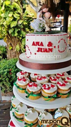 torta y cupcakes boda rompecabezas.mrponQ