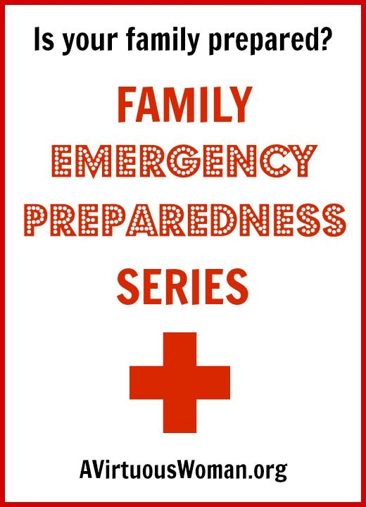 This Family Emergency Preparedness series will help you learn ways to prepare your family for short-term and long-term crisis.
