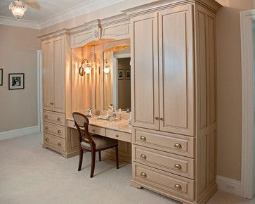 Double armoire makeup station - traditional - Dressers Chests And Bedroom Armoires - Boston - Brunarhans