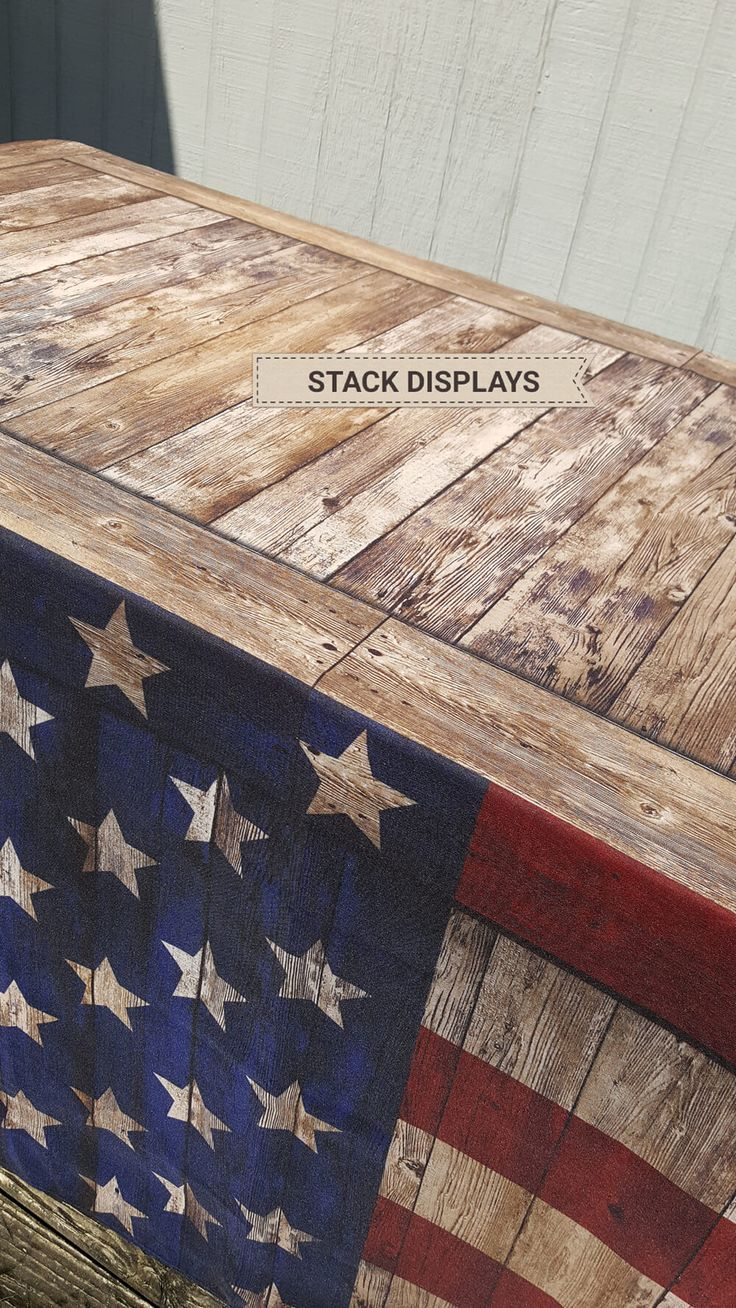 Delightful Stars U0026 Stripes Faux Wood Table Cover From Stack Displays. Rustic Look  Perfect For Craft