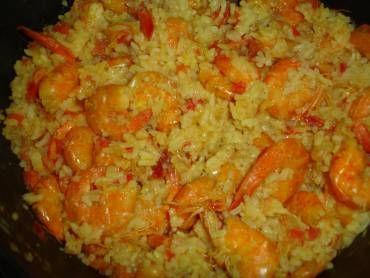 Receita de Risoto de camarão com açafrão - Tudo Gostoso