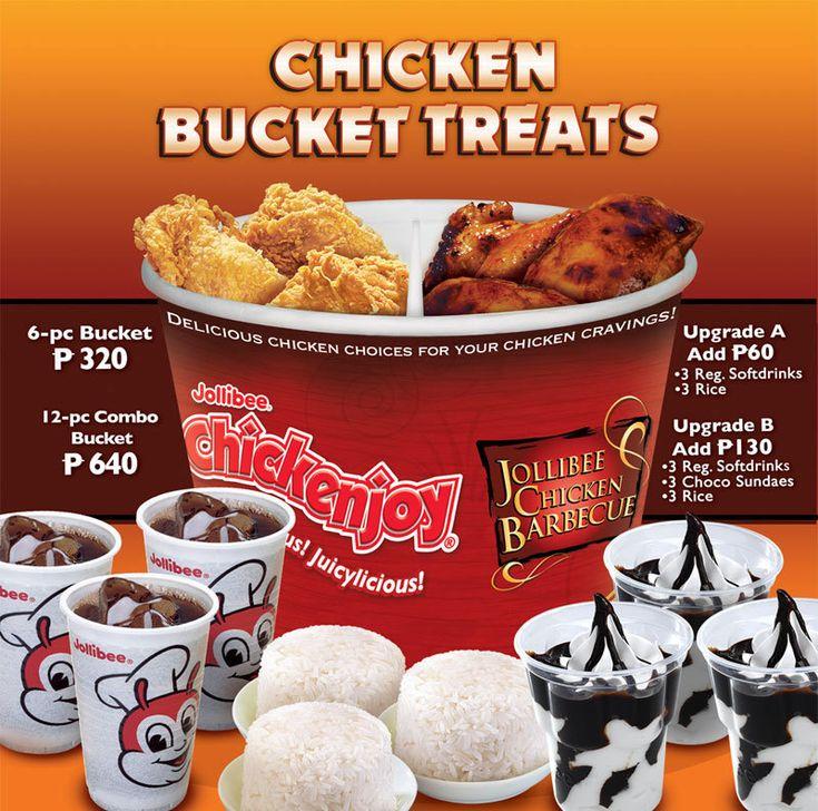Jollibee Chicken Bucket Menu Philippines in 2020 | Chicken ...