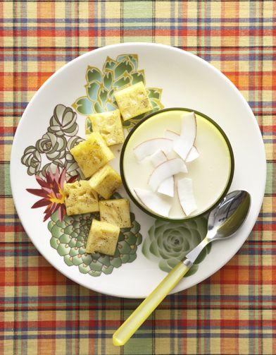 Blanc-manger coco, ananas vanillé pour 6 personnes - Recettes Elle à Table