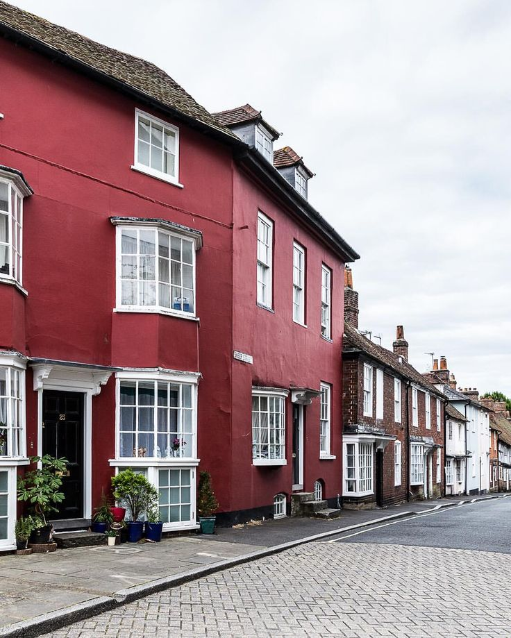 Red house on Sheep Street in Petersfield, Hampshire, England