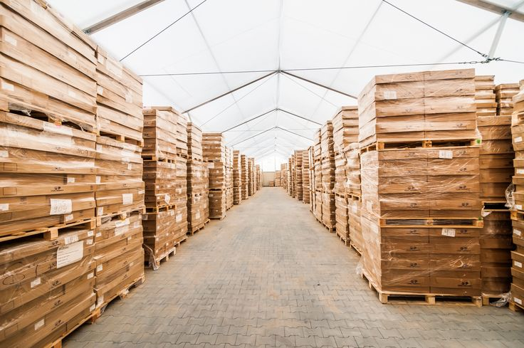 Storage tents structure in Chociule // Hala magazynowa Chociule