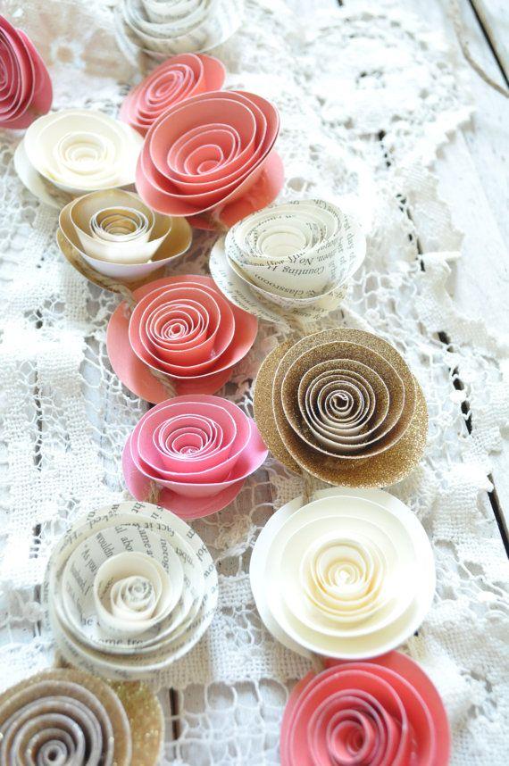 Wedding Garland  Paper Flower Garland wedding by lillesyster