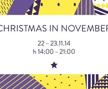 CHRISTMAS IN NOVEMBER 22 + 23 November 2014 H 14–21 @ franz office Bozen Bolzano South Tyrol