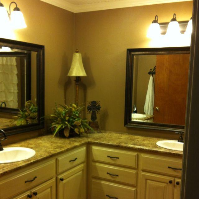 Website Picture Gallery L shaped master bathroom vanities