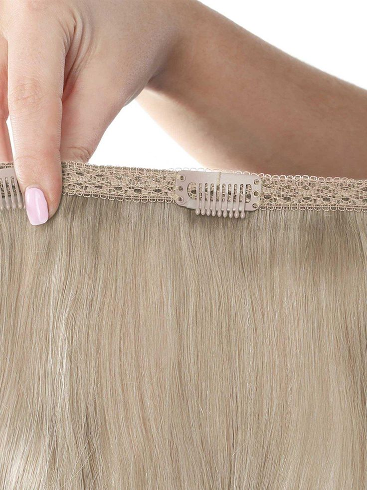 Beauty Works Double Hair Set Clip-In Extensions – New Root Blend Colour Collection 18 Inch 100% Remy Hair – 180 Grams – Moke –