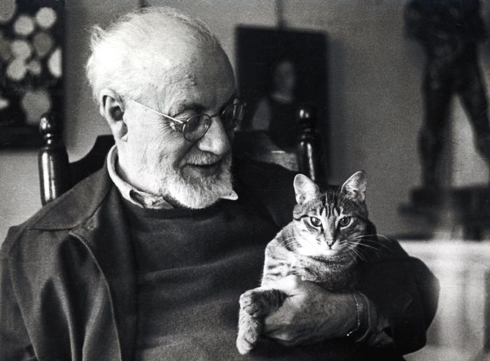 Matisse and cat, cat art
