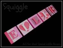 These gorgeous name blocks are a beautiful addition to any childs room!!