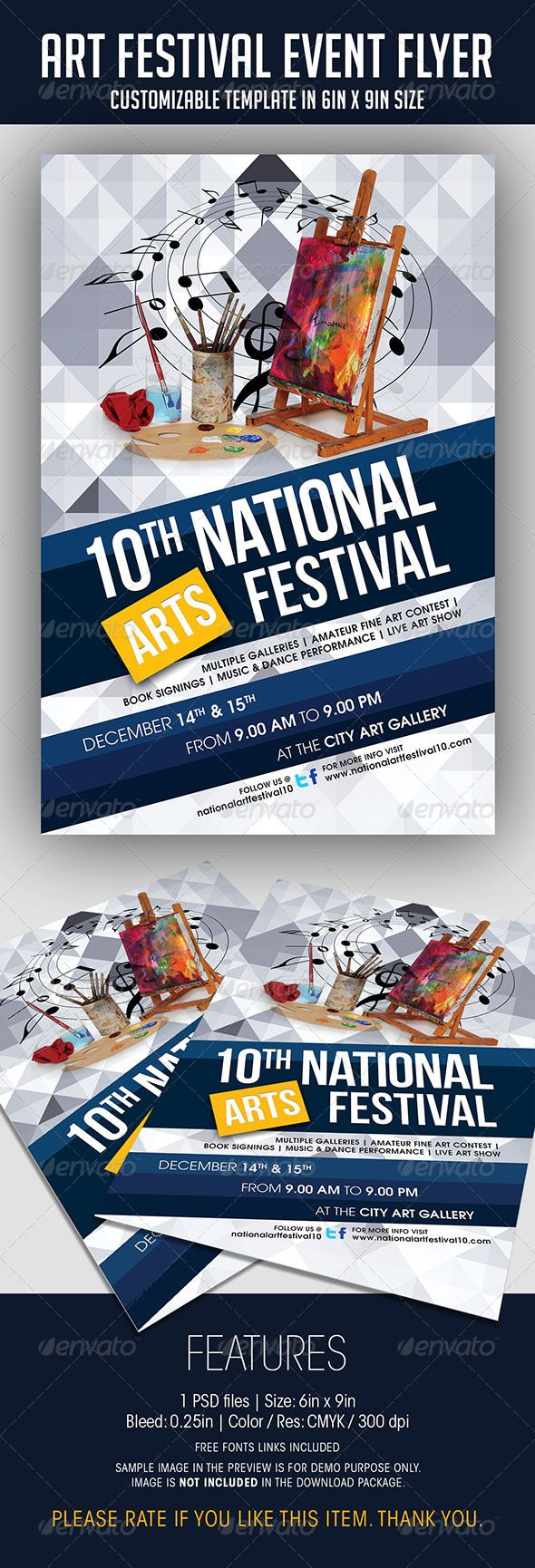 Arts Festival Event Flyer. Print-templates Flyers Events. To help discover this advertisement, art, blue, brush, business flyer, business promotion, canvas, celebration, contest, easel, event, event flyer, event poster, festival, fine art, flyer template, gallery, information, music, pattern, poster, poster template, promotion, promotional, soulmemoria, and texture.