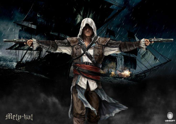 my assassins creed 4 fan art