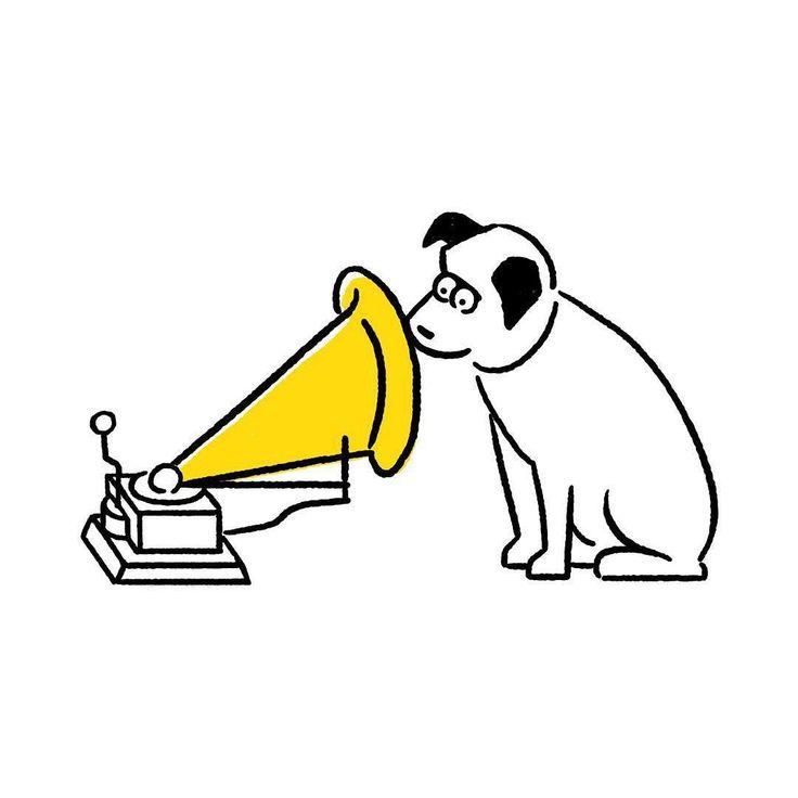 Nipper #nipper #hismastersvoice #seijimatsumoto #松本誠次 #art #dog #rca #victor #character #artwork #drawing #drawing #illustration #illust #illustrator #design #graphic #イラスト #犬 #ニッパー #ビクター #絵