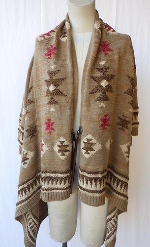 Ralph Lauren Navajo or Southwestern style cape/cardigan