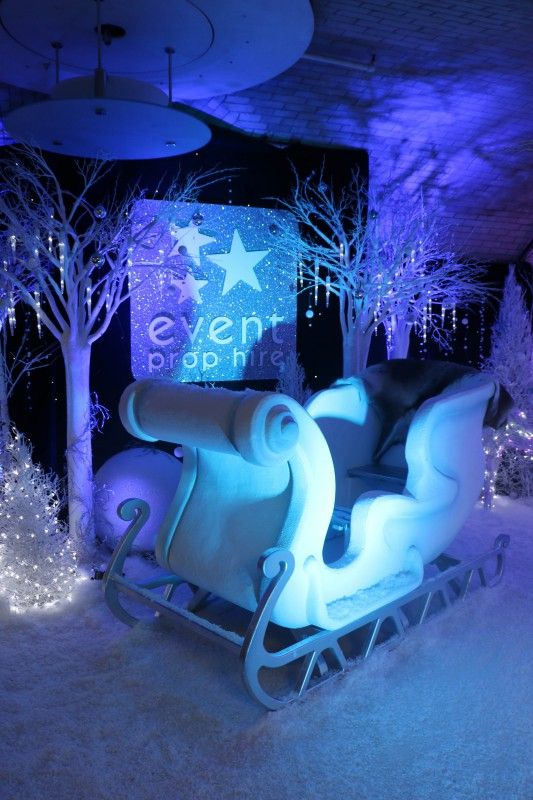 Santa's Sleigh Prop (White Small), Narnia Theme Party Hire