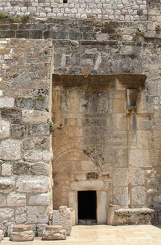 Entrance to the Church of the Nativity. Bethlehem,  ISRAEL.