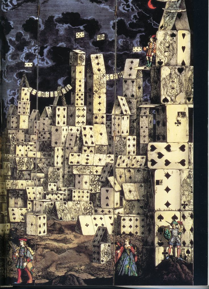 'City of Cards' by Piero Fornasetti.