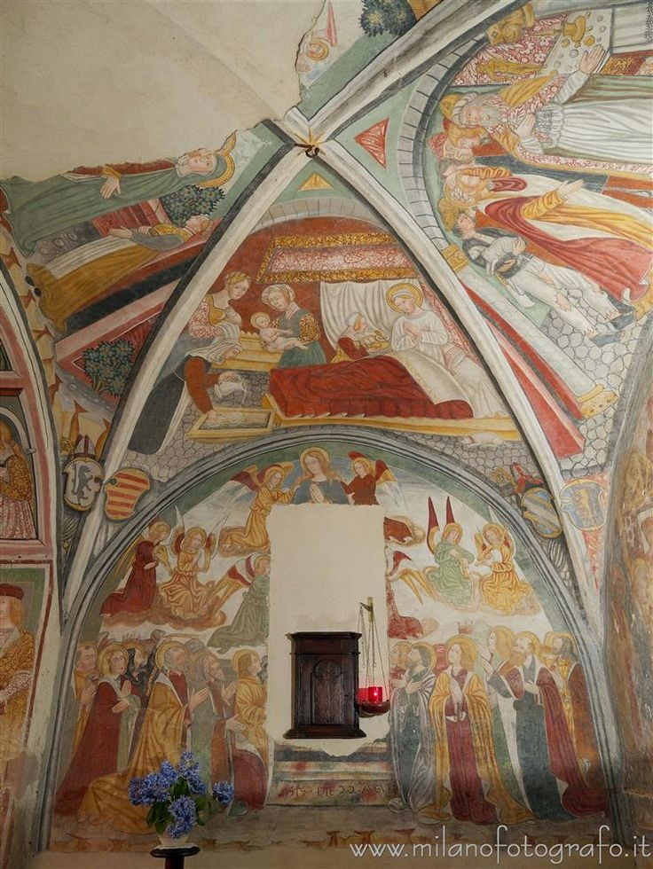 Castellengo (fraction of Cossato, Biella, Italy) - Frescos in the Church of the Saints Peter and Paul