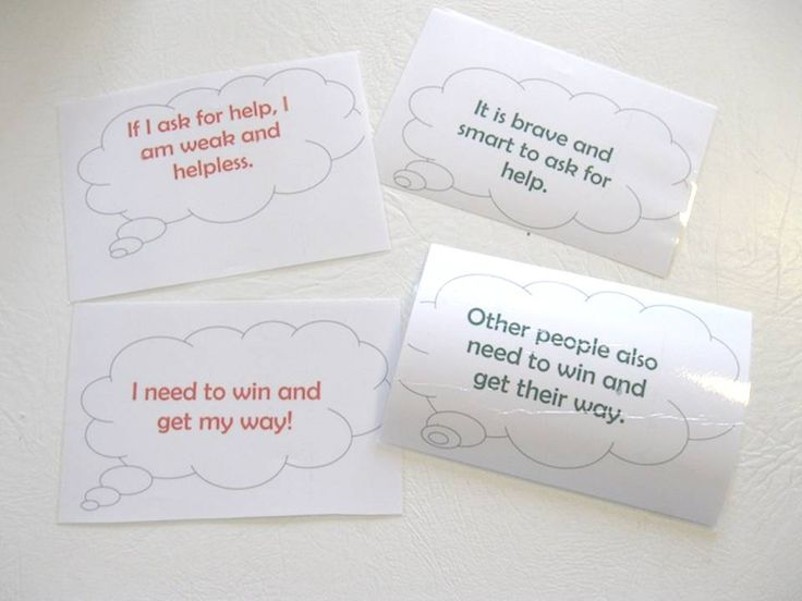 Free download - Cognitive Distortion Thought Bubbles--Simple Cognitive Behavioral Method for kidsThought bubbles photo, lightened