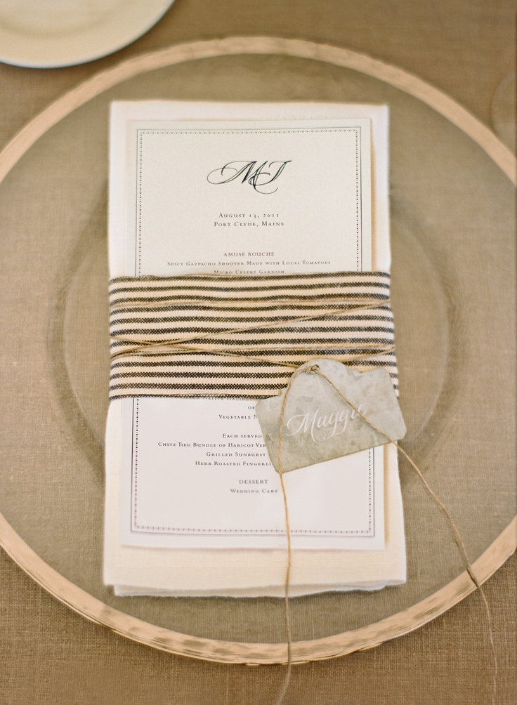 zinc place card tag.  shop the look at www.boutiqueTHEO.com    design by lisa vorce and mindy rice.  photo by aaron delesie