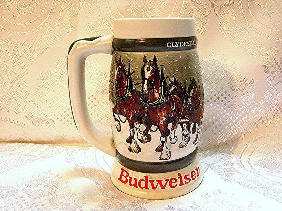 budweiser christmas stein collection - Budweiser Christmas Steins