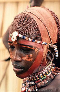 Africa. Masai tribesman. Masai Mara National Park, Kenya.